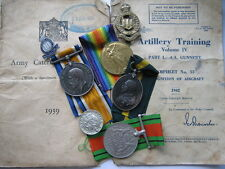 Territorial Force War medal group RA and Tynemouth RGA