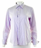 RALPH LAUREN Womens Shirt Size 12 Medium Purple Cotton Skinny  KL16