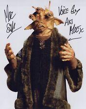 STAR WARS Phantom Menace movie photo signed by Marc Silk as Aks Moe