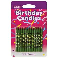 Camo Print Traditioinal Birthday Candles