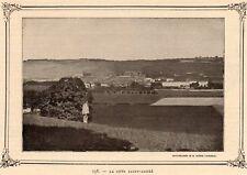IMAGE VERS 1900 PRINT 38 LA COTE SAINT ANDRE VUE GENERALE
