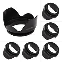 52mm-67mm Professional Flower Shape Screw Mount Lens Hood for Nikon Cannon Sony