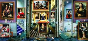 """Ferjo """"The Beginning"""" Complete Triptych 114 x 27 Giclee on Canvas 3 Pieces H/S"""