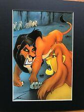 SCAR~MUFASA~LION KING~A FIGHT TO THE DEATH~8 x 10 Mat Print~DISNEY VILLAIN~NEW