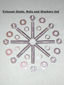 Kawasaki Z1/Z900/Z1000 - Exhaust Studs Nuts and Washers 8mm/M8 - Stainless Steel