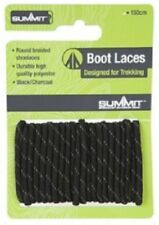Heavy Duty Black Boot Laces Summit Walking Hiking 120cm Long Strong 770001