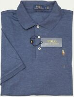 NWT $85 Polo Ralph Lauren Blue Heather Short Sleeve Shirt Mens Classic Fit NEW