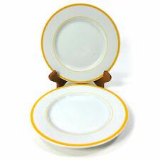 "Set of 2 Block Spal Portugal Lisboa Yellow Rim 6.25"" Bread Butter Dessert Plates"
