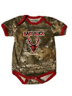 Realtree Baby Buck Size 24 Month Camouflage With  red and black Plaid One Piece