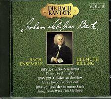BACH Cantates Vol 10 Cantatas 137,  129, 78 Helmuth RILLING Bach Ensemble