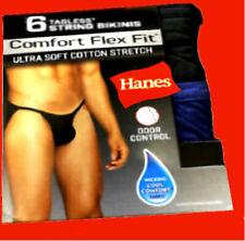 Hanes men String bikinis briefs 6-pack tanga petee pataga