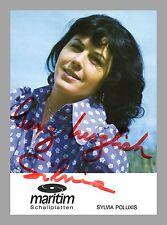 SILVIA POLUXIS   Sängerin   Original-Autogramm auf Plattenlabel-Starkarte