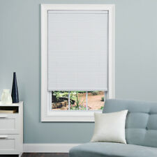 Window Mini-Blinds Cordless Light Filtering 1 In Slat White Vinyl 23 X 42 Inch