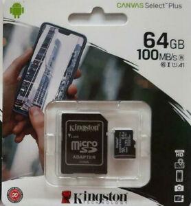 Neuheit KINGSTON-Speicherkarte100 MB/s 64GB -J5-J7-A3-A5-S8 S9 S10 Alle Handys