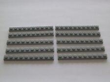 Lego 4477# 10x Basic 1x10 flach Platten Plättchen in grau neu hellgrau