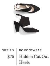 Brand New W/ Tags BC FOOTWEAR Hidden Cut-Out Heels In Black Size 8.5 Stitchfix