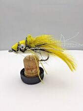 Pike Flies YELLOW SWIMMING FROG Pack of Two Size 3/0 with Weed-guard- #168D