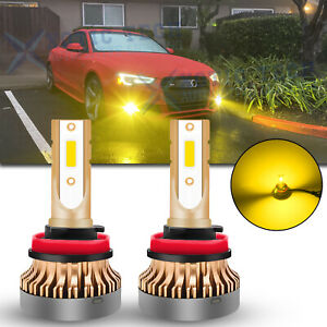 For Audi A3 A4 A5 A6 A8 TT Q5 S5 3000K Bright Golden Yellow LED Fog Light Bulbs