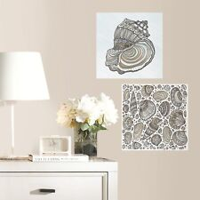 SEASHELL Color your own Decal Wall Decals Sea Shells Adult Coloring Stickers Kid