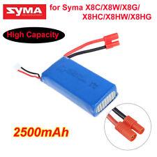Syma X8C/W/G X8HC/HG/HW RC Quadcopter Spare Parts 7.4V 2500mAh Lipo Battery Fast