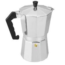 3 Cups Moka Pot Aluminum Coffee Maker Top Latte Maker Stove Homemade Silver