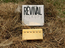 THE REVIVAL PICKUPS RPH4 ALNICO IV HUMBUCKER PAF SET GOLD 7.6+8.4k THE TRUE TONE