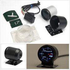 """7Color LED Electrical Car Bar Turbo Boost Gauge Meter With Sensor Holder 2"""" 52mm"""