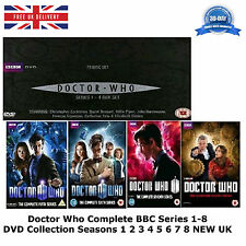 Doctor Who Complete BBC Series 1-8 DVD Collection Seasons 1 2 3 4 5 6 7 8 NEW UK