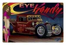 Muscle US Car Hot Rat Rod Eye Kandy Pin Up Comic Retro Sign Blechschild Schild