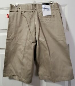 French Toast New/tags size 16 boys adjustable waist khaki flat front shorts