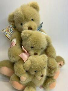 Dakin Enesco CHERISHED TEDDIES Special Edition 3 Bears SetHandcrafted 1994