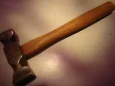 Meat tendering vintage iron with wood handle, square head on both sides_E-152