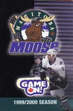 1999-00 MANITOBA MOOSE HOCKEY POCKET SCHEDULE