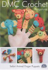 DMC 15098L/2 Safari Animals Finger Puppets Amigurumi Crochet Pattern