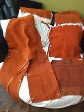 Leather Full Pantsjacket Welding Brown Coat Protective Clothing Suit For Welder