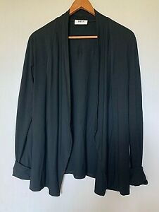 Mela Purdie black viscose/spandex tuxedo jacket  XS (10-12)