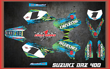 Suzuki DRZ400 DRZ 400  SEMI CUSTOM GRAPHICS KIT TOON1