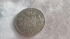 Monnaie Ecu 5 francs Léopold II Belgique Belges argent 1873 N°2