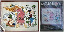 Linda Powell Dimensions Vintage Crewel Embroidery Kit Fairy Tales 20 x 16 Unused