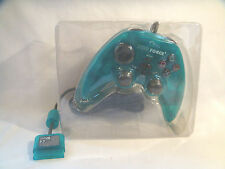 PSX Duo Force 2 Dual Analog Force Feedback controller by Pelican - Aqua