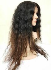 Brazilian human hair wig, Lace Front Wig, Lace Wig, brown black curly afro
