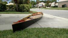 Wood Cedar-Strip Decked Canoe 16.5' L Tandum, Hand Built. Includes paddles