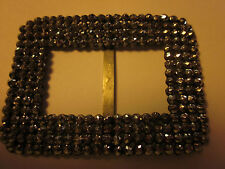 Antique Cut Steel Marcasite  Signed Gammeyer Art Deco Belt Buckle
