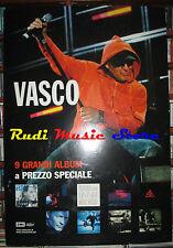 CARTONATO PROMO VASCO ROSSI 9 grandi album a prezzo 68 X 98 cd dvd vhs lp live