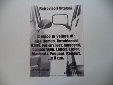 advertising Pubblicità 1980 RETROVISORI SPECCHIETTI VITALONI
