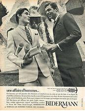 PUBLICITE   1967   BIDERMAN  vetements costumes homme