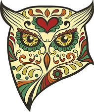 OWL ZUCCHERO TESCHIO in vinile Esterni per Auto Decalcomanie Messicano Giorno dei Morti GRAFICA X 2