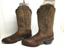 VTG WOMENS ARIAT ATS COWBOY BROWN BOOTS SIZE 7 B