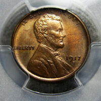 1917-S Lincoln Cent MS-64 PCGS Graded Wheat ---- SLABBED ---- #AA03