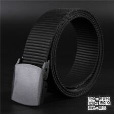 Metal-Free Web Belt Waistband Outdoor Sports Canvas Nylon Military Men Fashion